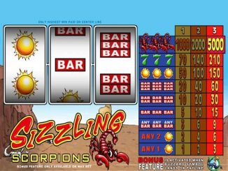 sizzling scorpions slot machine